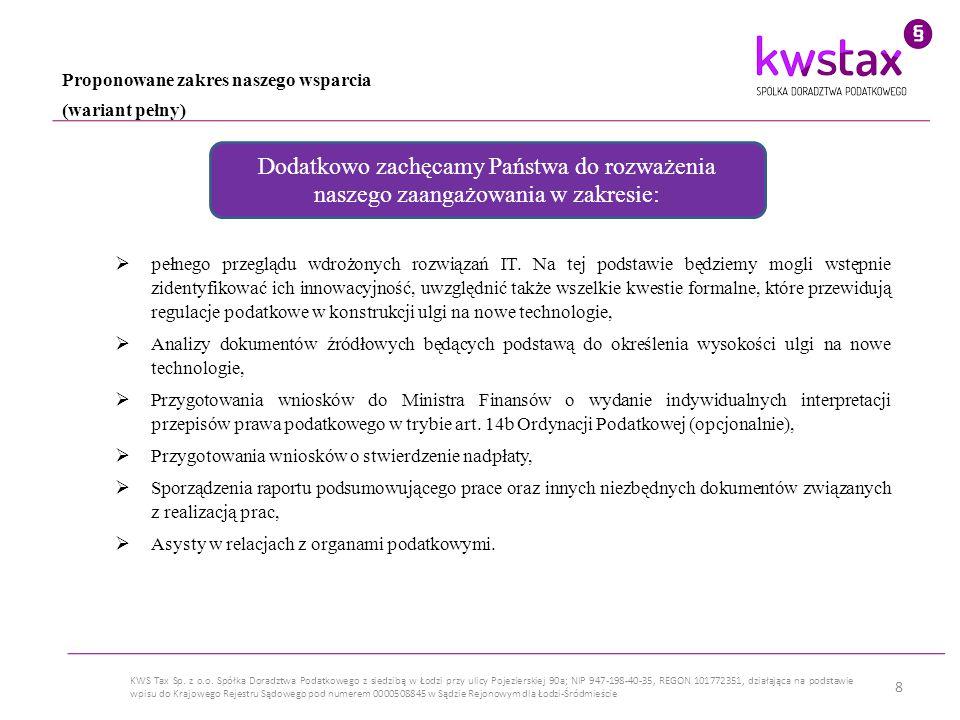 9 KWS Tax Sp.z o.o.