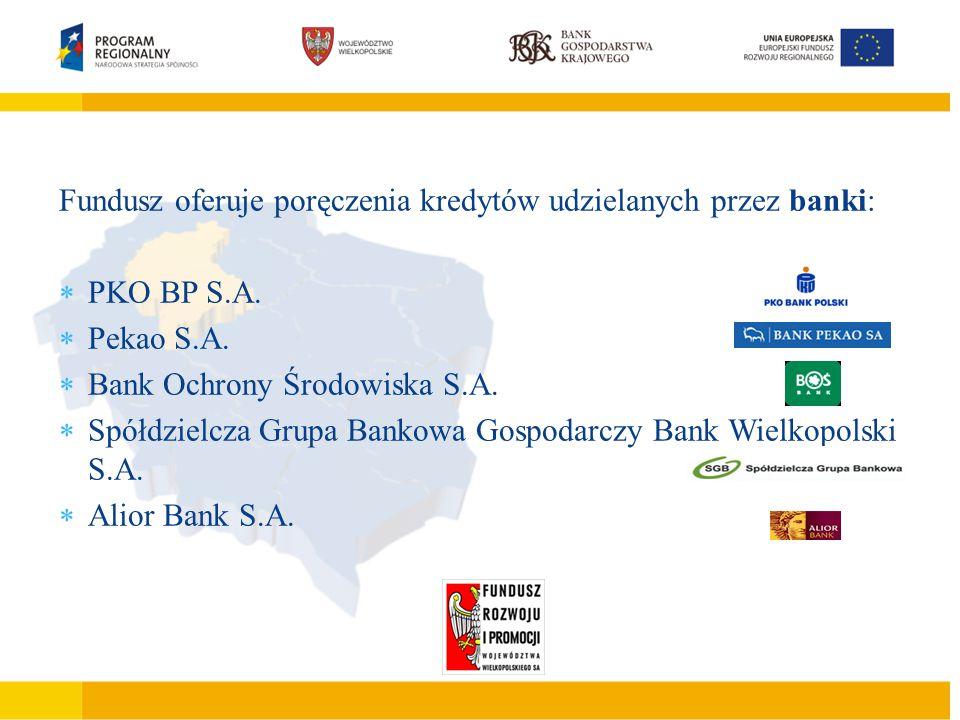 Podstawowe cechy JEREMIE  Finansowanie działalności gospodarczej mikro małego lub średniego przedsiębiorcy  Finansowanie inwestycji polegających na zakupie, budowie, modernizacji obiektów produkcyjno –usługowo – handlowych  Tworzenie nowych miejsc pracy  Wdrażanie nowych rozwiązań technicznych i technologicznych Fundusz oferuje poręczenia kredytów udzielanych przez banki:  PKO BP S.A.
