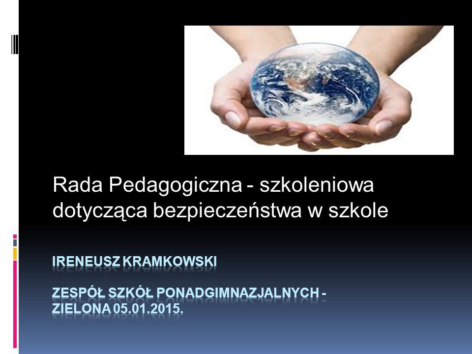 Rada Pedagogiczna - szkoleniowa dotycząca bezpieczeństwa w szkole