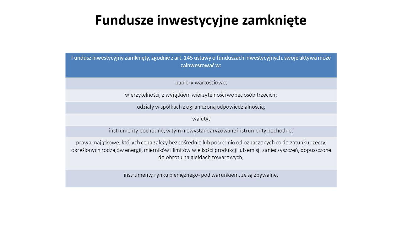 Tworzenie funduszu inwestycyjnego zamkniętego Fundusz inwestycyjny może zostać utworzony wyłącznie przez Towarzystwo Funduszy Inwestycyjnych, po uprzednim uzyskaniu zezwolenia Komisji Nadzoru Finansowego.