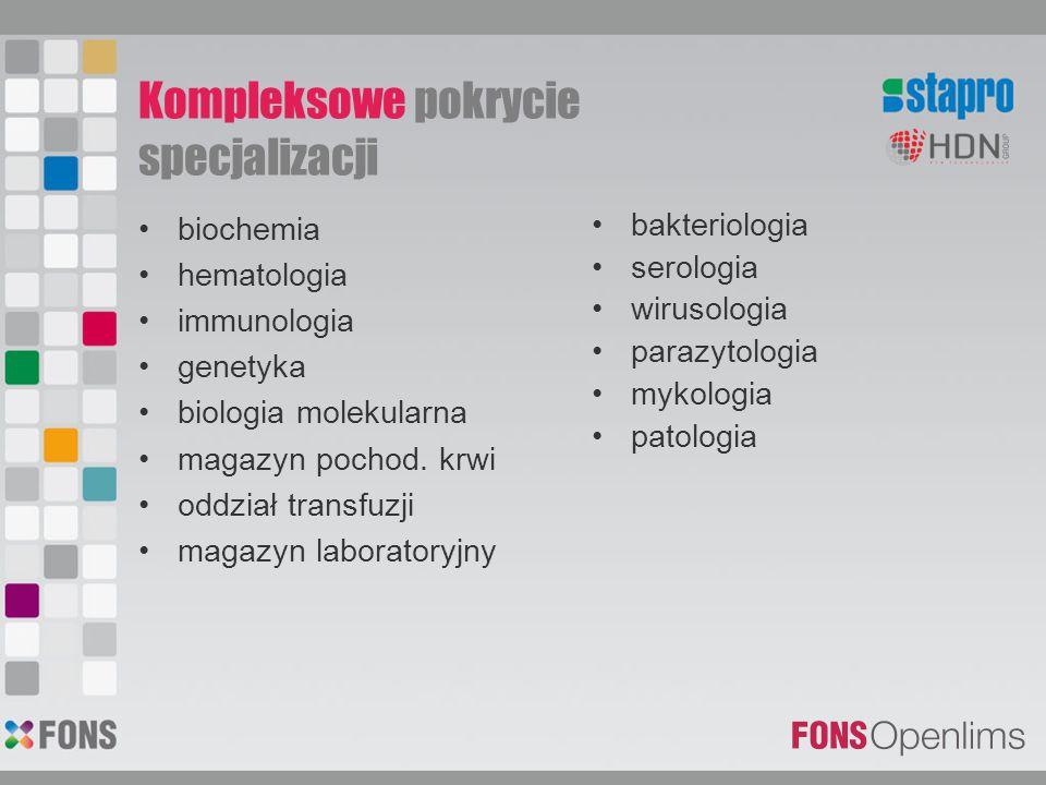 biochemia hematologia immunologia genetyka biologia molekularna magazyn pochod. krwi oddział transfuzji magazyn laboratoryjny bakteriologia serologia