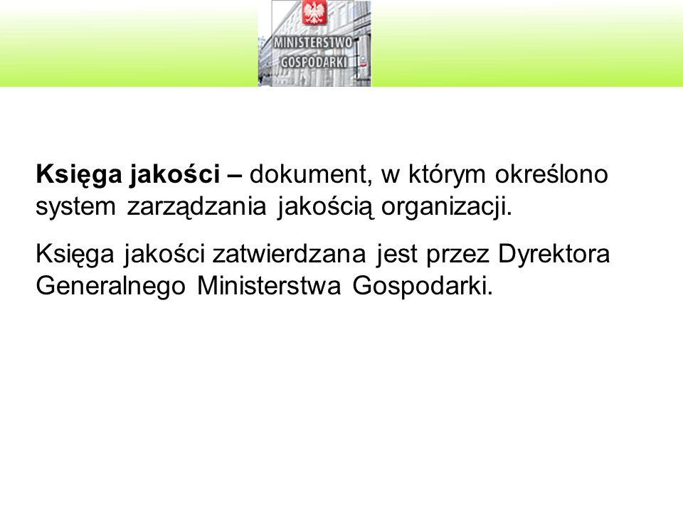 Księga jakości – dokument, w którym określono system zarządzania jakością organizacji.