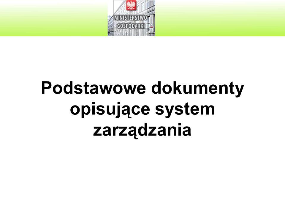 Podstawowe dokumenty opisujące system zarządzania
