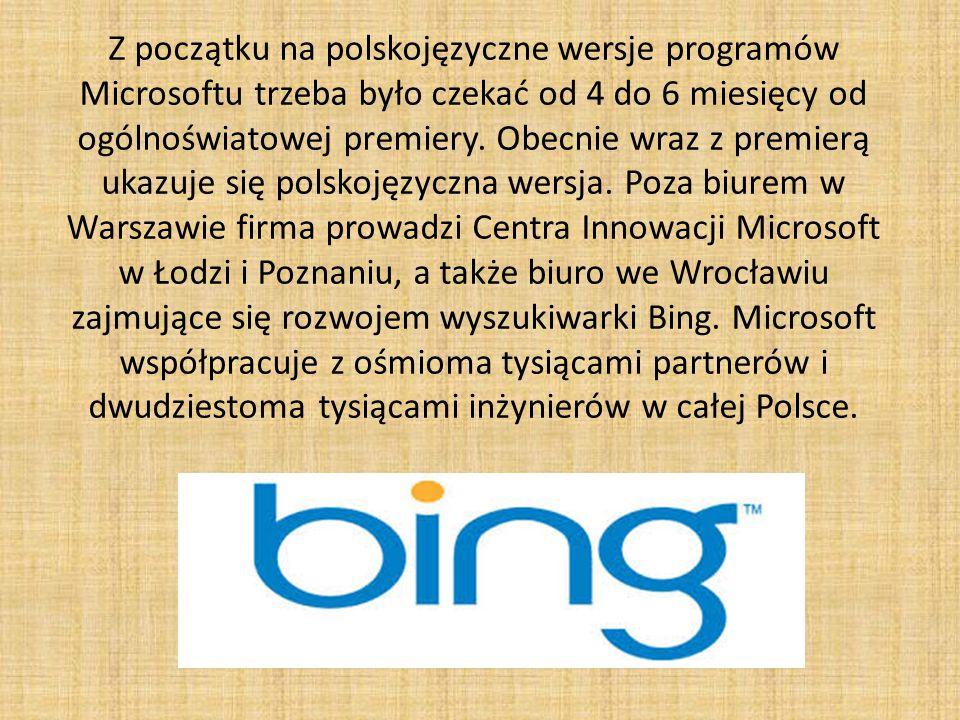 Z początku na polskojęzyczne wersje programów Microsoftu trzeba było czekać od 4 do 6 miesięcy od ogólnoświatowej premiery.