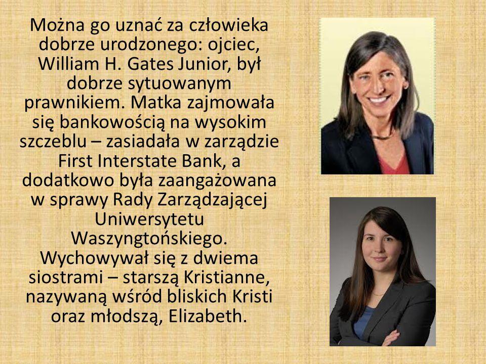Na przełomie wieków państwo Gates rozpoczęli działalność charytatywną – powstała Bill & Melinda Gates Fundation.