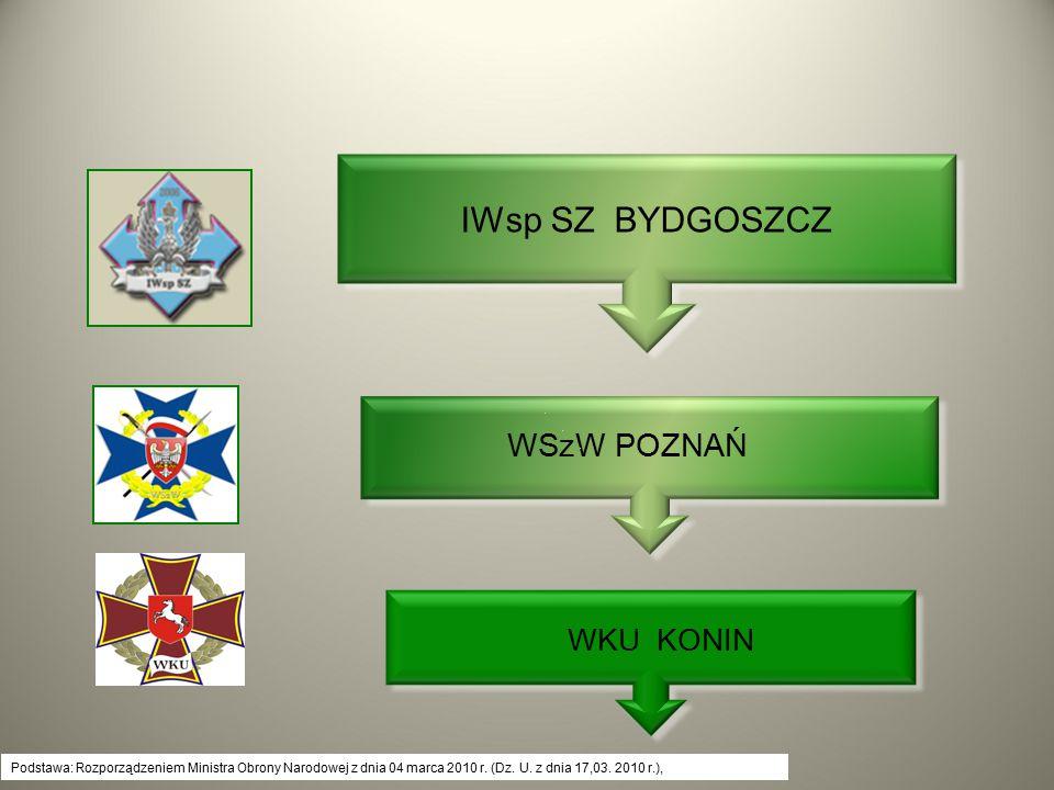 Podstawa: Rozporządzeniem Ministra Obrony Narodowej z dnia 04 marca 2010 r. (Dz. U. z dnia 17,03. 2010 r.), WKU KONIN WSzW POZNAŃ IWsp SZ BYDGOSZCZ