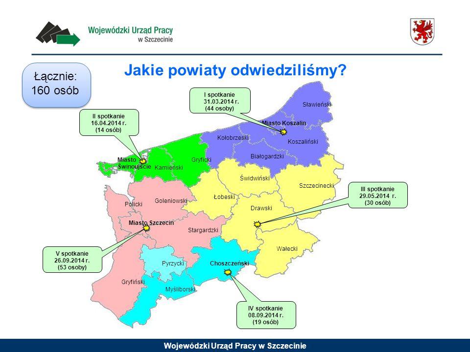 Wojewódzki Urząd Pracy w Szczecinie Jakie powiaty odwiedziliśmy.