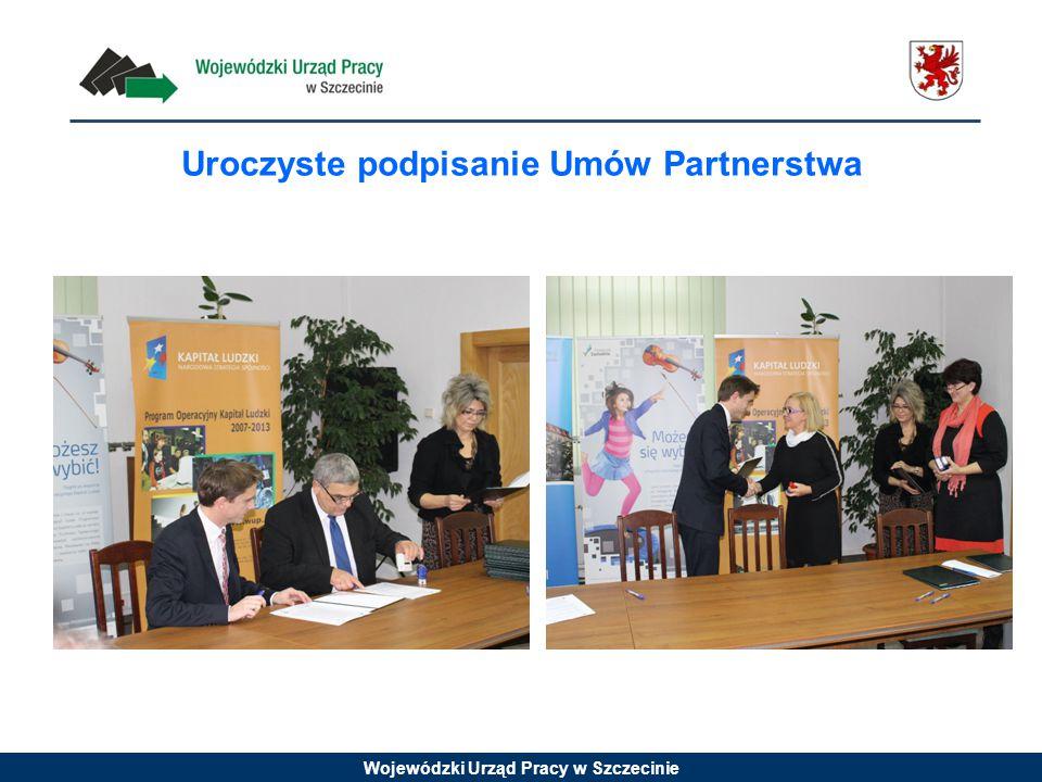 Wojewódzki Urząd Pracy w Szczecinie Uroczyste podpisanie Umów Partnerstwa