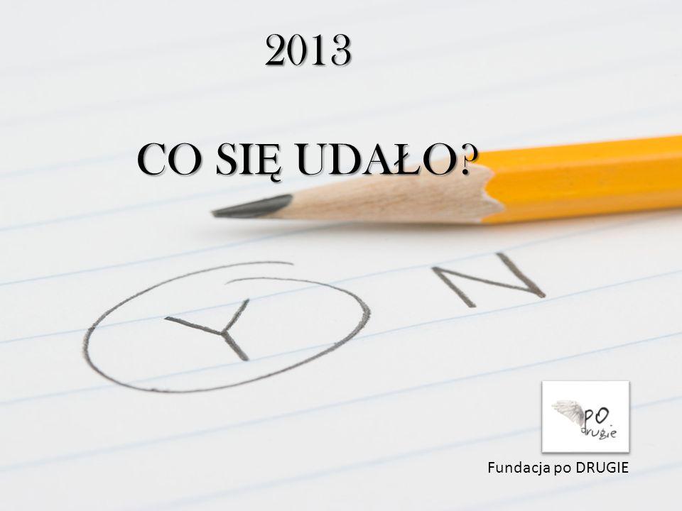 2013 CO SI Ę UDA Ł O Fundacja po DRUGIE