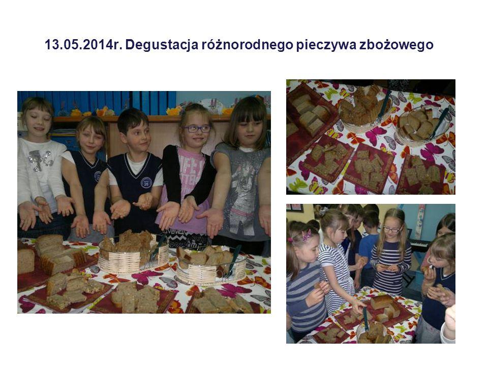 13.05.2014r. Degustacja różnorodnego pieczywa zbożowego