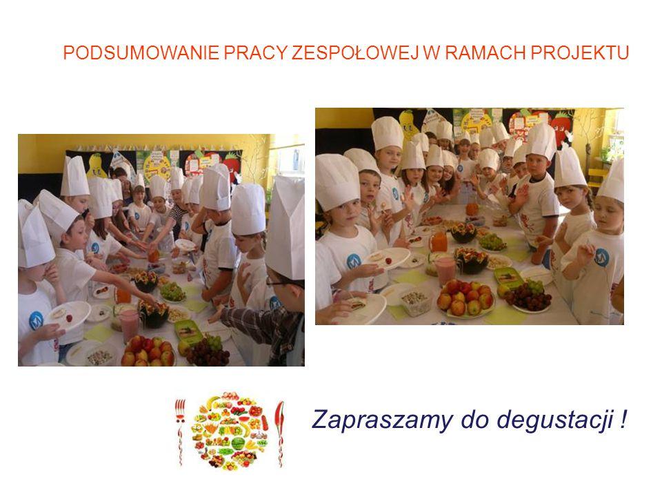 PODSUMOWANIE PRACY ZESPOŁOWEJ W RAMACH PROJEKTU Zapraszamy do degustacji !
