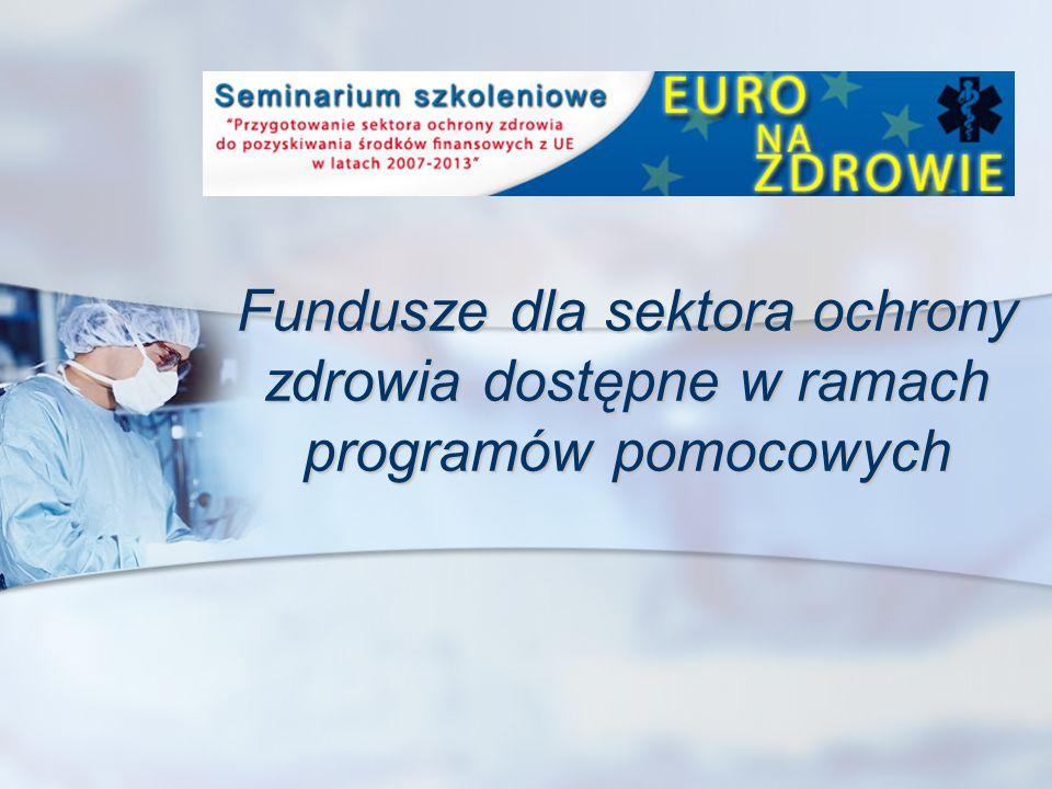Programy pomocowe na rzecz sektora ochrony zdrowia Mechanizm Finansowy Europejskiego Obszaru Gospodarczego i Norweski Mechanizm Finansowy Mechanizm Finansowy Europejskiego Obszaru Gospodarczego i Norweski Mechanizm Finansowy Szwajcarsko-Polski Program Współpracy Szwajcarsko-Polski Program Współpracy