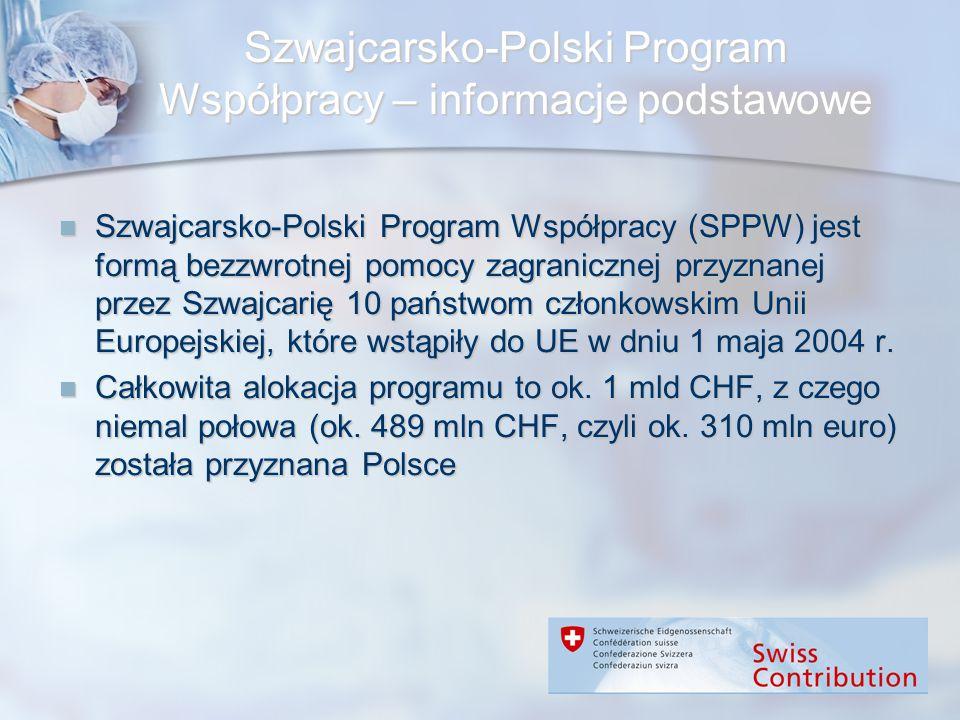 Szwajcarsko-Polski Program Współpracy – informacje podstawowe Szwajcarsko-Polski Program Współpracy (SPPW) jest formą bezzwrotnej pomocy zagranicznej
