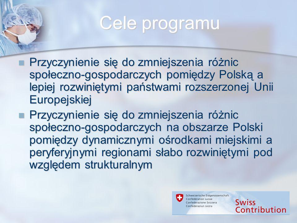 Cele programu Przyczynienie się do zmniejszenia różnic społeczno-gospodarczych pomiędzy Polską a lepiej rozwiniętymi państwami rozszerzonej Unii Europ