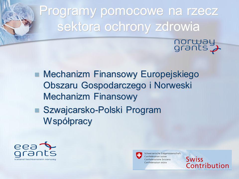 Programy pomocowe na rzecz sektora ochrony zdrowia Mechanizm Finansowy Europejskiego Obszaru Gospodarczego i Norweski Mechanizm Finansowy Mechanizm Fi