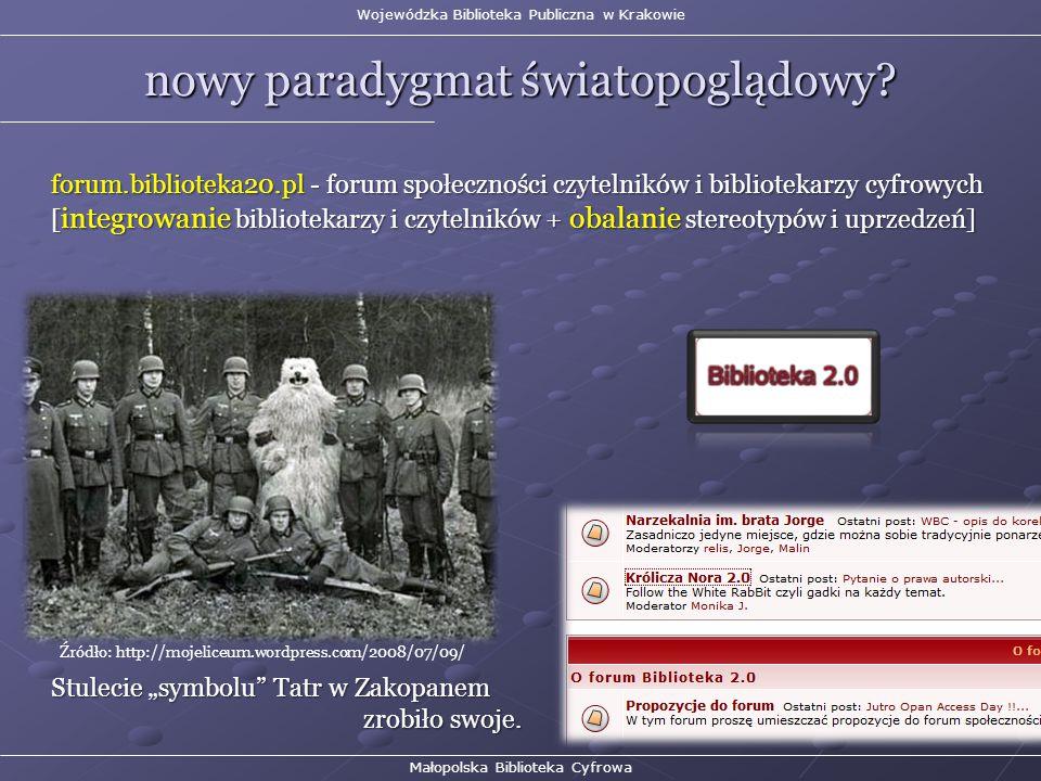 Wojewódzka Biblioteka Publiczna w Krakowie nowy paradygmat światopoglądowy.