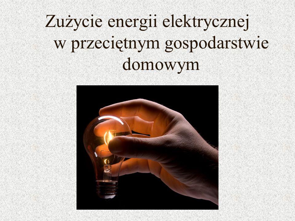 Zużycie energii elektrycznej w przeciętnym gospodarstwie domowym