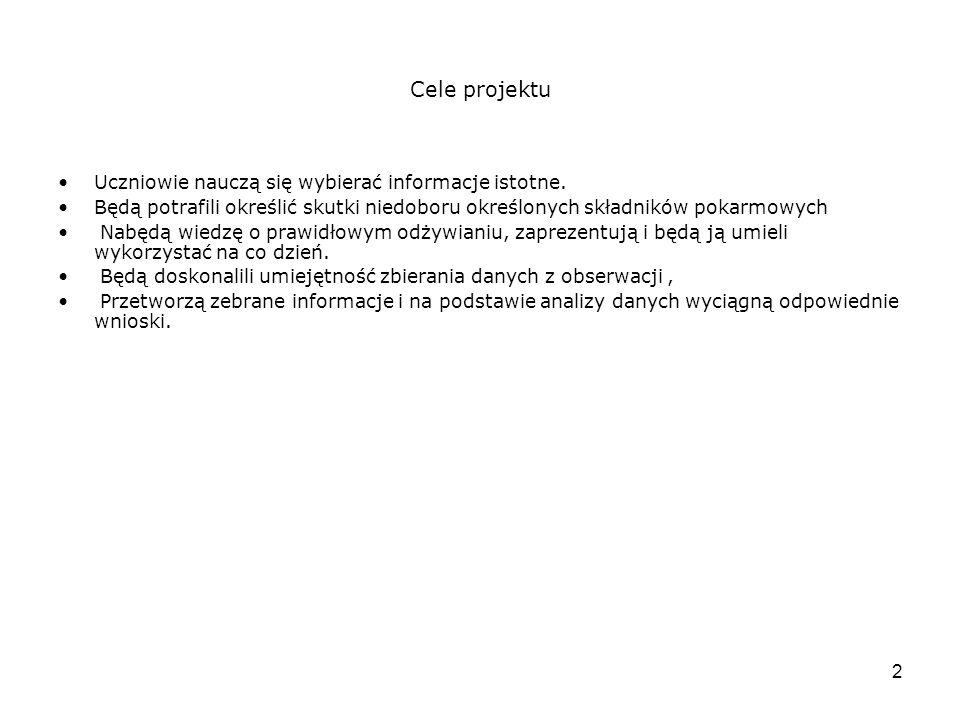13 Ja i projekt Świat dzielimy na ten sprzed nauczania metodą projektu i po wprowadzeniu tej metody.