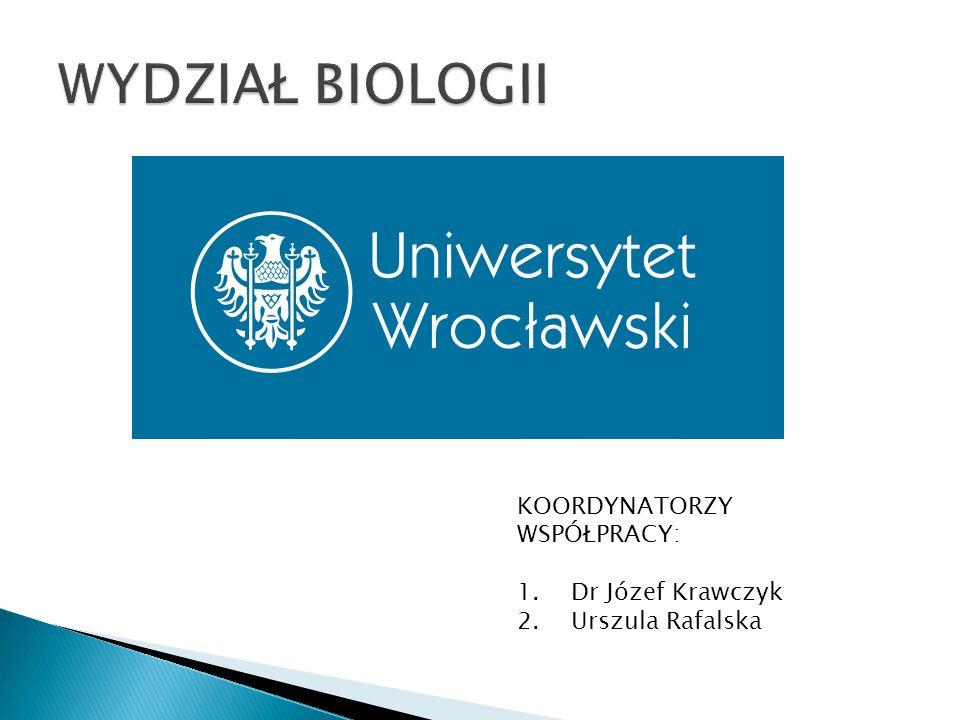 KOORDYNATORZY WSPÓŁPRACY: 1.Dr Józef Krawczyk 2.Urszula Rafalska