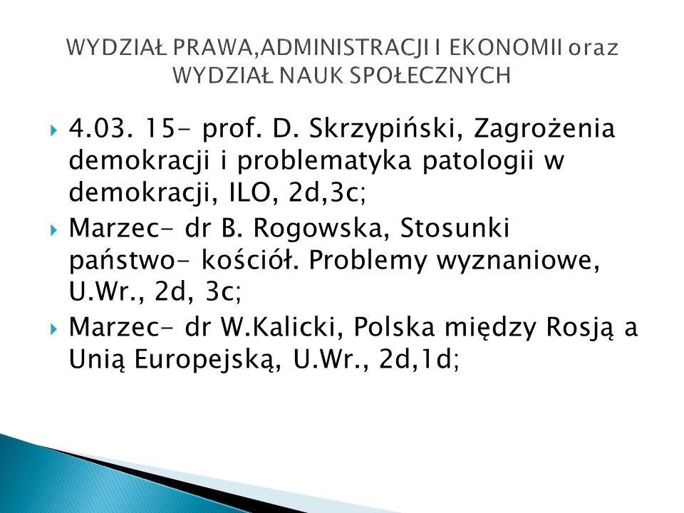  4.03. 15- prof. D.