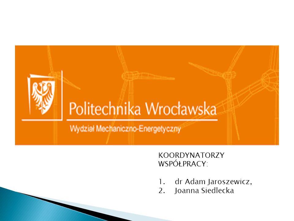 KOORDYNATORZY WSPÓŁPRACY: 1.dr Adam Jaroszewicz, 2.Joanna Siedlecka