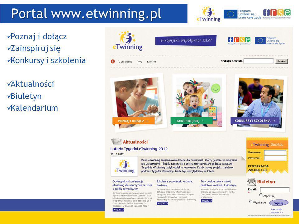 Portal www.etwinning.pl Portal www.etwinning.pl Poznaj i dołącz Zainspiruj się Konkursy i szkolenia Aktualności Biuletyn Kalendarium