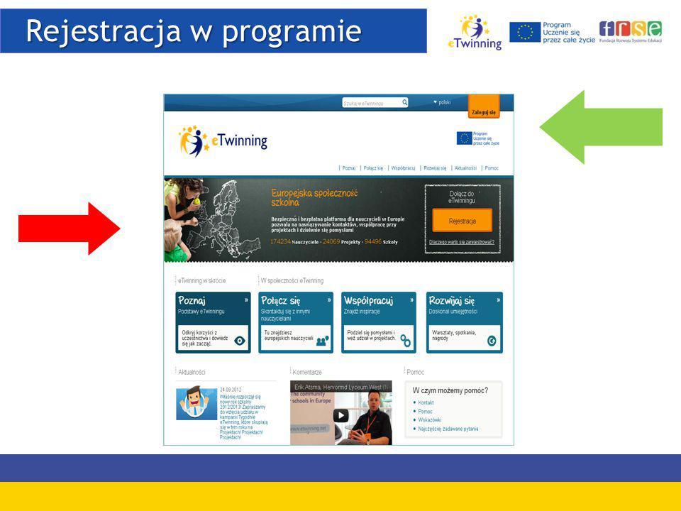Rejestracja w programie Rejestracja w programie