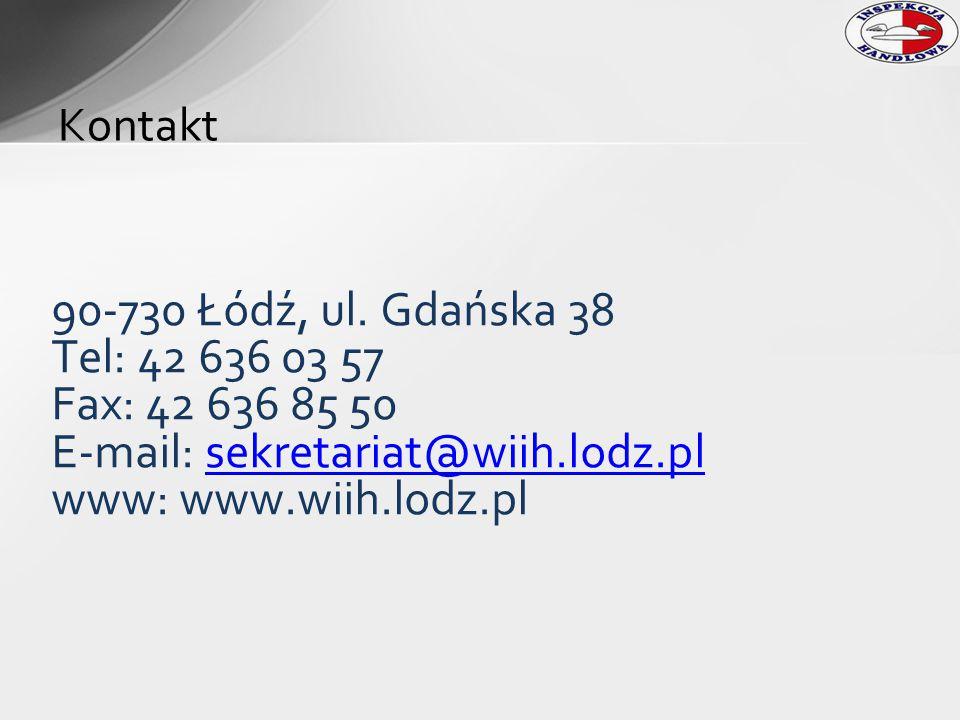 Kontakt 90-730 Łódź, ul. Gdańska 38 Tel: 42 636 03 57 Fax: 42 636 85 50 E-mail: sekretariat@wiih.lodz.plsekretariat@wiih.lodz.pl www: www.wiih.lodz.pl