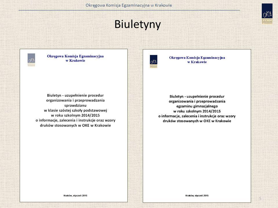 Okręgowa Komisja Egzaminacyjna w Krakowie Biuletyny 5