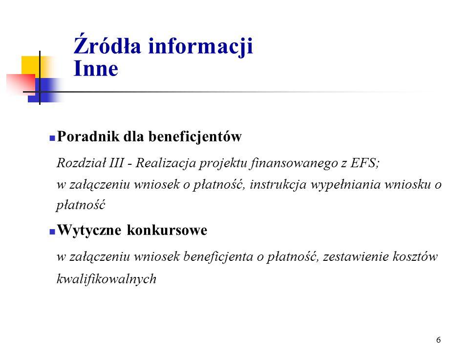 5 Źródła informacji Krajowe regulacje prawne Rozporządzenie Ministra Gospodarki i Pracy z dnia 11 sierpnia 2004 r.