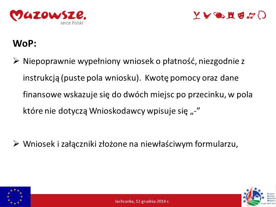 Jachranka, 12 grudnia2014 r.