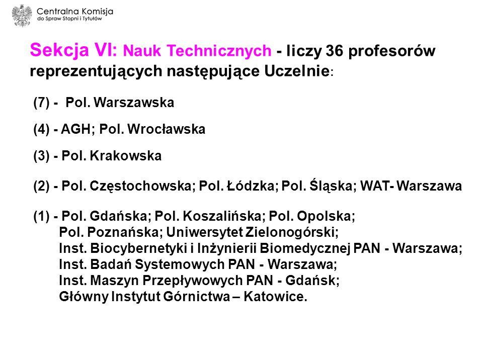 Centralna Komisja do Spraw Stopni i Tytułów Przewodniczący - prof.