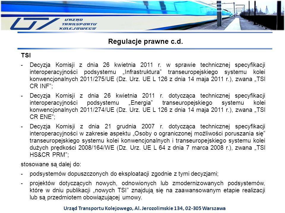 W przypadku skorzystania przez wnioskodawcę z przepisów przejściowych zawartych w TSI umożliwiających niestosowanie całej lub części TSI bądź też skorzystania z wyjątków przewidzianych w odpowiedniej TSI, powinno być to zawarte i odpowiednio uzasadnione we wniosku i w certyfikacie weryfikacji WE; W przypadku korzystania z wyjątków przewidzianych w ustawie o transporcie kolejowym dotyczących sieci kolejowych albo ich części nieobjętych obowiązkiem stosowania TSI (art.