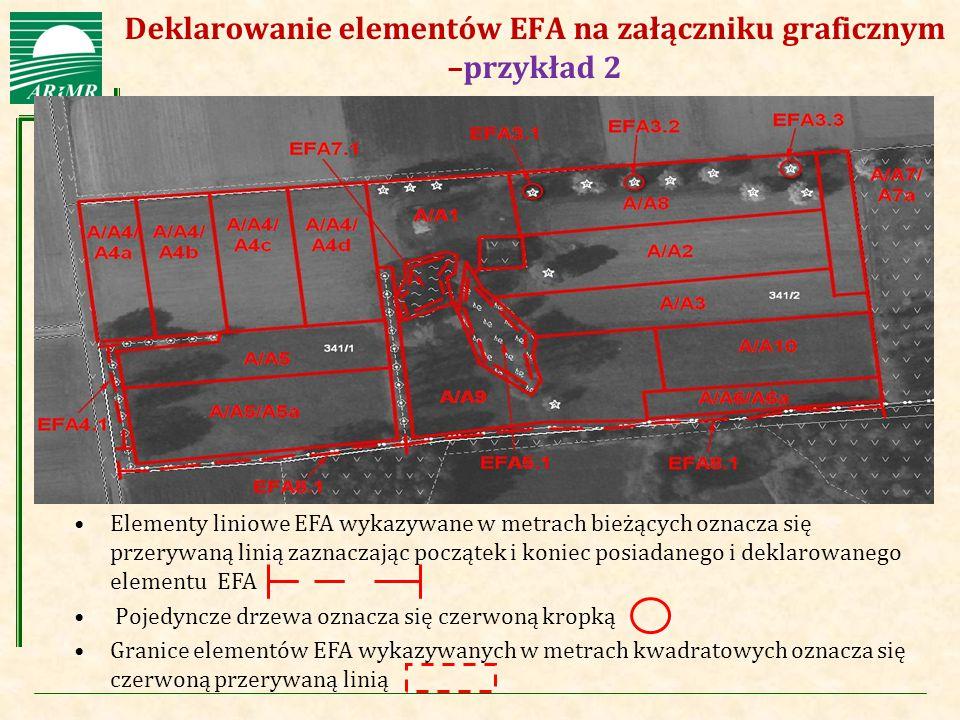 Agencja Restrukturyzacji i Modernizacji Rolnictwa Deklarowanie elementów EFA na załączniku graficznym –przykład 2 Elementy liniowe EFA wykazywane w me