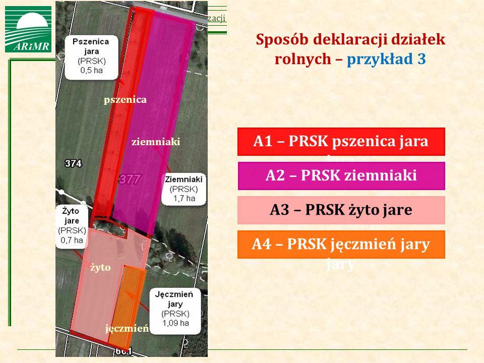 Agencja Restrukturyzacji i Modernizacji Rolnictwa ziemniaki A1 – PRSK pszenica jara jara A2 – PRSK ziemniaki A3 – PRSK żyto jare A4 – PRSK jęczmień ja