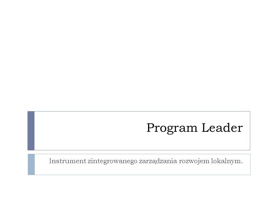 Program Leader Instrument zintegrowanego zarządzania rozwojem lokalnym.