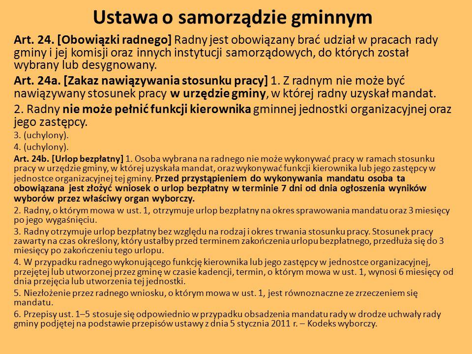 Ustawa o samorządzie gminnym Art.24.