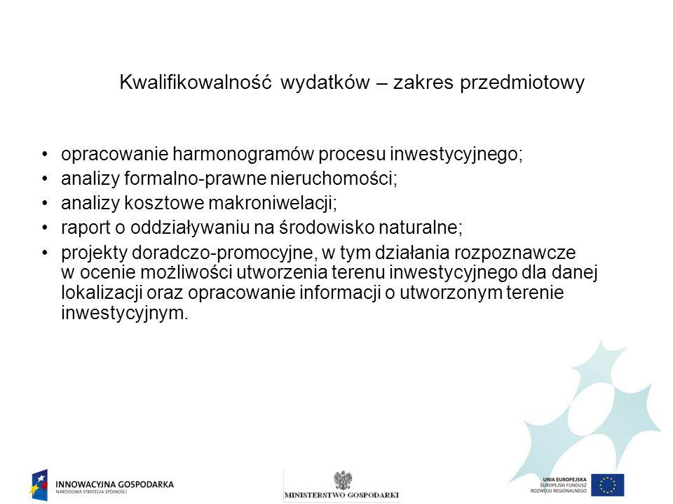 opracowanie harmonogramów procesu inwestycyjnego; analizy formalno-prawne nieruchomości; analizy kosztowe makroniwelacji; raport o oddziaływaniu na śr
