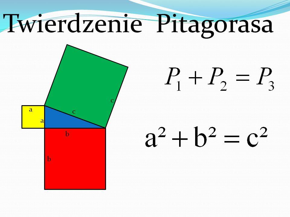 Twierdzenie Pitagorasa b c c b a a