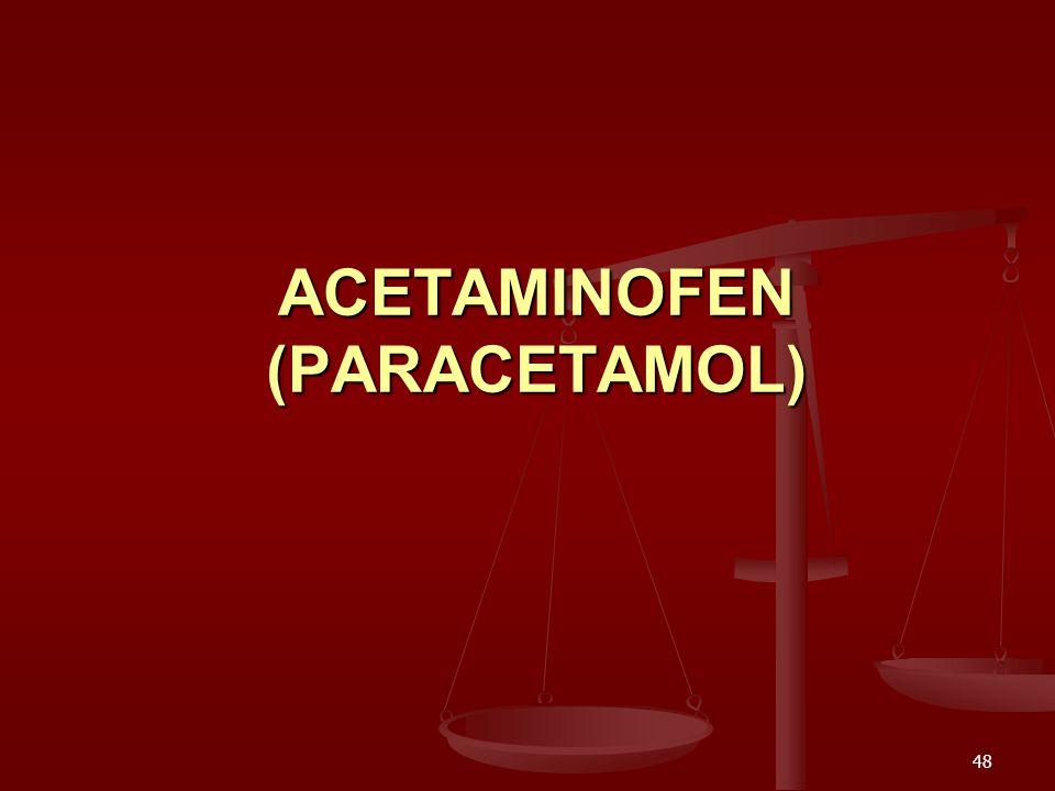 48 ACETAMINOFEN (PARACETAMOL)