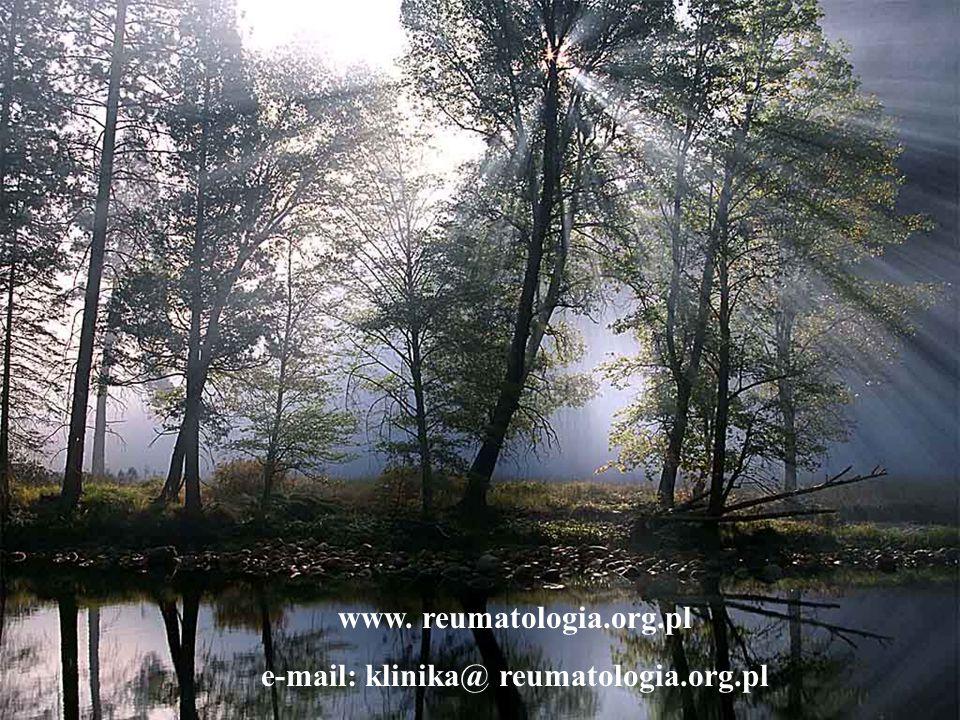 www. reumatologia.org.pl e-mail: klinika@ reumatologia.org.pl