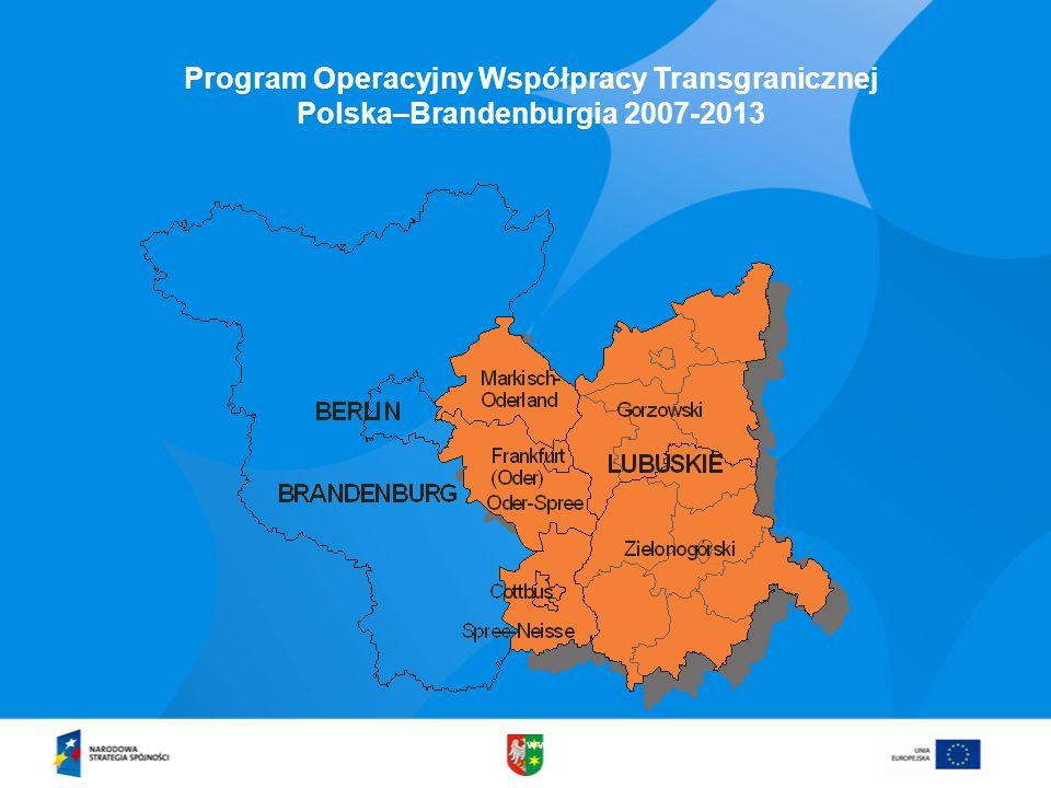 www.lubuskie.pl Program Operacyjny Współpracy Transgranicznej Polska–Brandenburgia 2007-2013