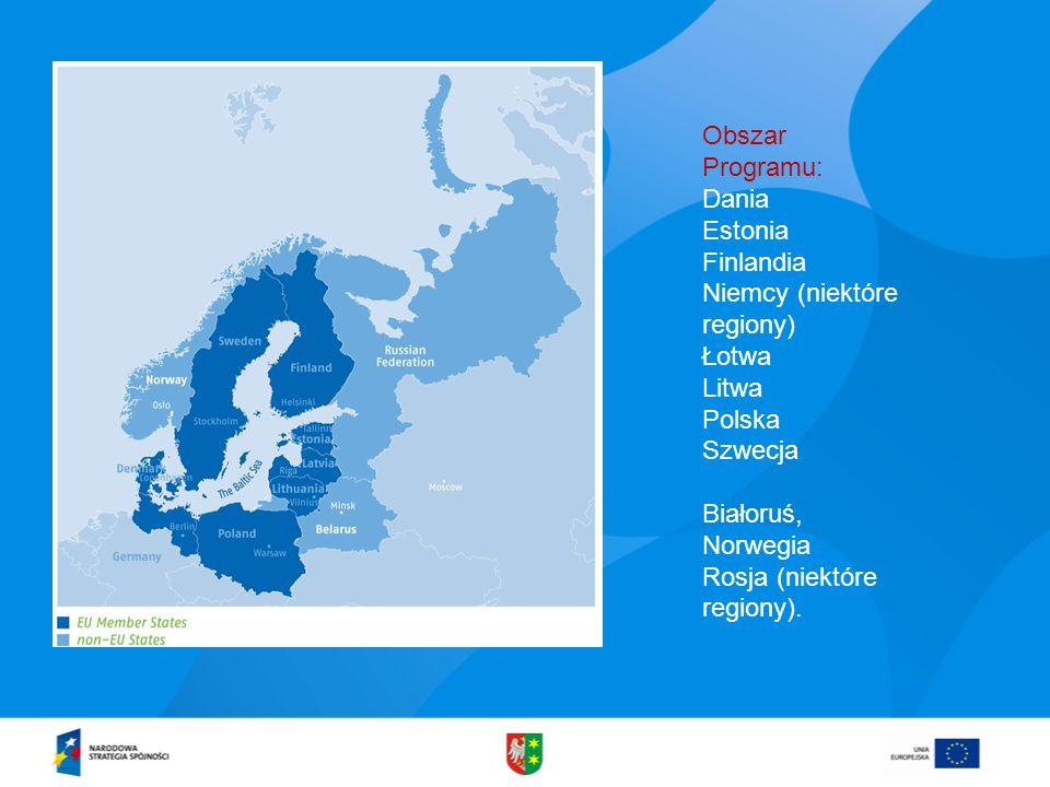 Obszar Programu: Dania Estonia Finlandia Niemcy (niektóre regiony) Łotwa Litwa Polska Szwecja Białoruś, Norwegia Rosja (niektóre regiony).