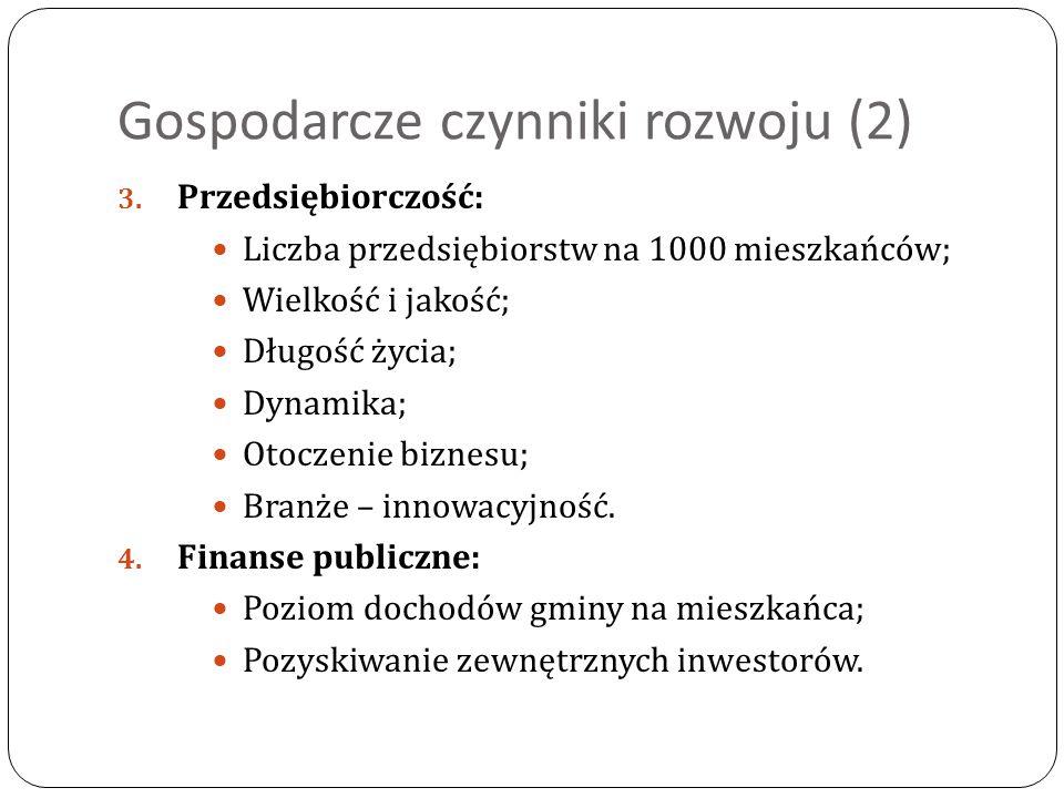 Gospodarcze czynniki rozwoju (2) 3.