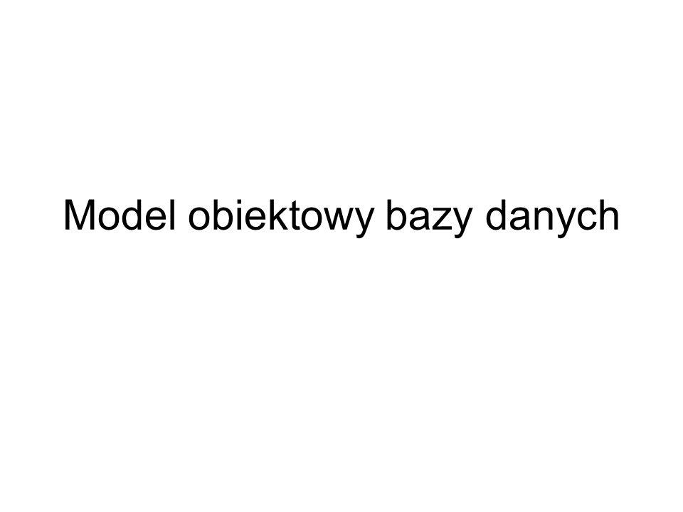 Model obiektowy bazy danych