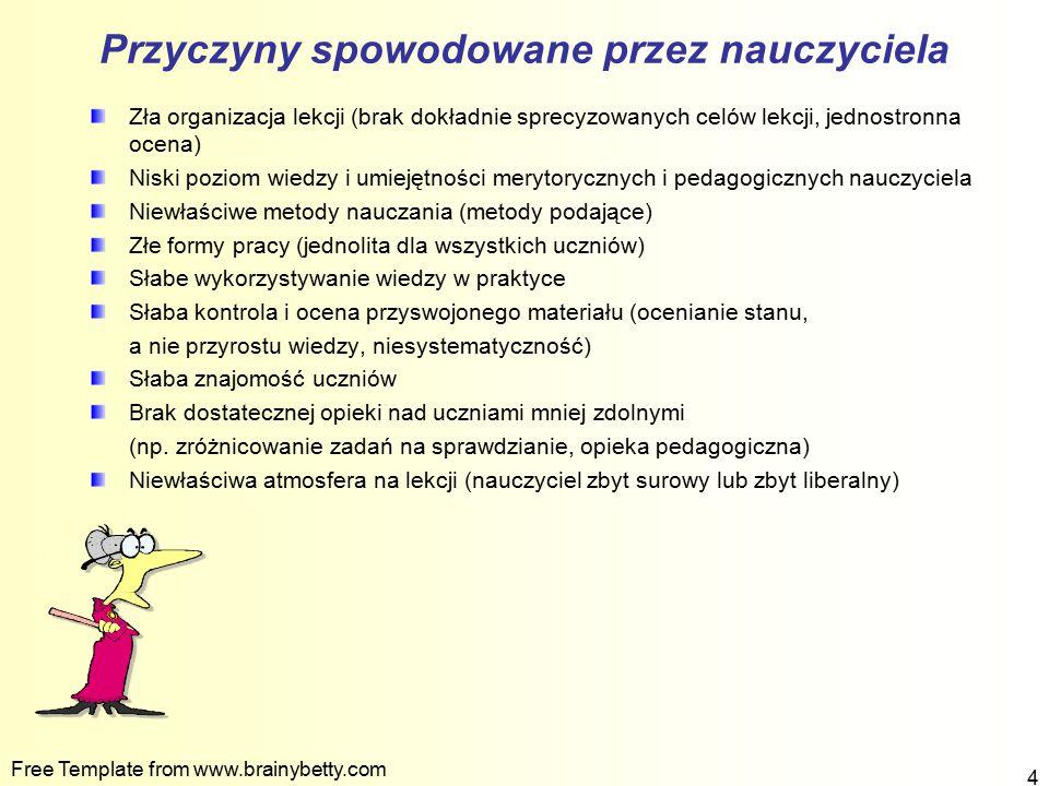 Free Template from www.brainybetty.com 15 Winę za niepowodzenia szkolne uczniów ponoszą osoby dorosłe.