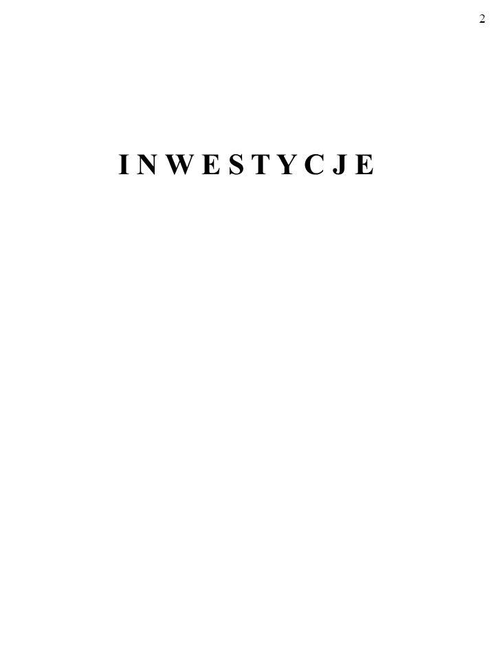 22 Wielkość STRUMIENIA inwestycji I 0 z rysunku (b) równoważy zu- życie kapitału, zapewniając istnienie ZASOBU kapitału K 0 na ry- sunku (a).