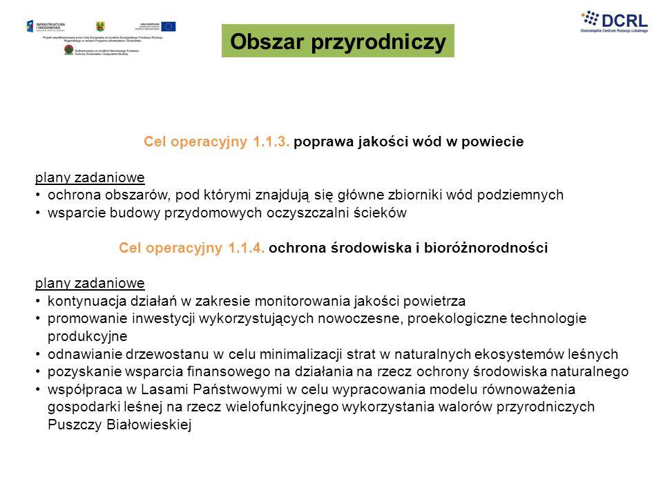 Obszar gospodarczy Cel strategiczny 3.3.Poprawa klimatu dla biznesu Cel operacyjny 3.3.1.