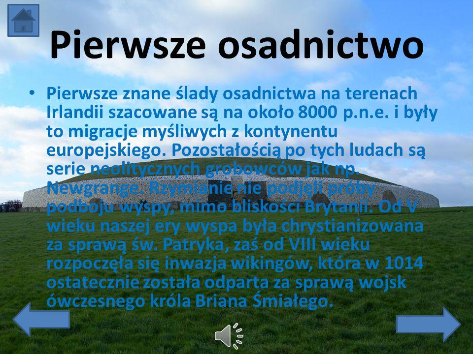 Ważne informacje Powierchnia: 84.421 km2 Ludność: ok. 6.400.000 Waluta: Euro Język urzędowy: -irlandzki -angielski Religie: -katolicyzm ok. 82,2% -wyz