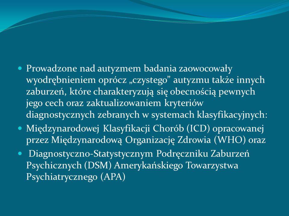 AUTYZM schizofreniczny: z ang.Schizophrenic autism franc.